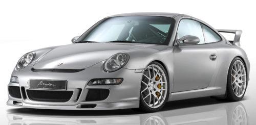 Porsche 911 mit GTS-R silber seitliche Front